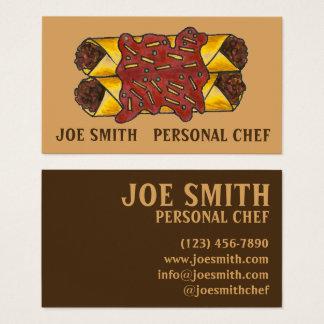 Cartão De Visitas Cozinheiro pessoal Foodie do cozinheiro chefe dos