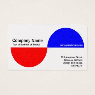 Cartão De Visitas Crecents alterno - vermelho e azul (platina)