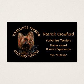 Cartão De Visitas Criador e treinamento do yorkshire terrier