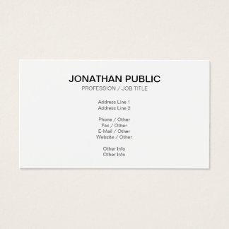 Cartão De Visitas Criar seu próprio moderno liso elegante alisam o