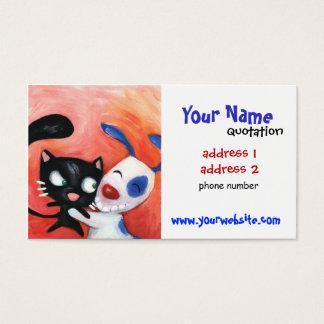 Cartão De Visitas cuidados dos animais de estimação, veterinários,