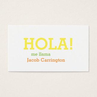 Cartão De Visitas Cumprimento espanhol
