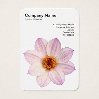 Cartão De Visitas Dália cor-de-rosa