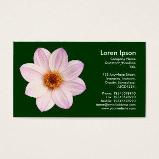Cartão De Visitas Dália cor-de-rosa - verde escuro