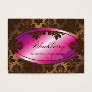 Cartão De Visitas damasco da trufa de chocolate de 311-Sweet