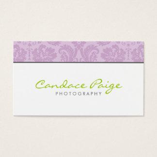 Cartão De Visitas Damasco do vintage do Lilac