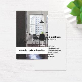 Cartão De Visitas Desenhista branco corajoso moderno dos arquitetos