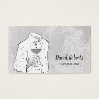 Cartão De Visitas Desenho elegante da mão do cozinheiro chefe