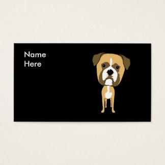 Cartão De Visitas Desenhos animados bonitos do cão do pugilista