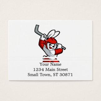 Cartão De Visitas desenhos animados do hóquei do coelho