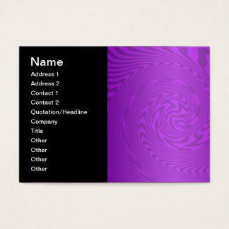Cartão De Visitas Design brilhante do abstrato do roxo
