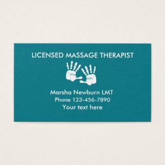 Cartão De Visitas Design das mãos da massagem