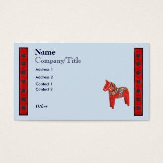 Cartão De Visitas Design escandinavo do cavalo de Dala do sueco