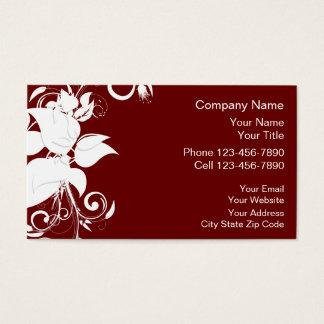Cartão De Visitas Design floral da terapia da massagem