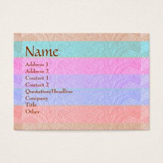 Cartão De Visitas Design gravado listras do artesão