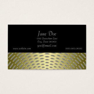 Cartão De Visitas Design moderno do abstrato do ouro