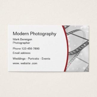 Cartão De Visitas Design moderno do fotógrafo