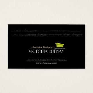 Cartão De Visitas Design moderno do preto do sofá do designer de
