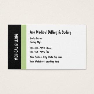 Cartão De Visitas Design moderno médico do faturamento e da