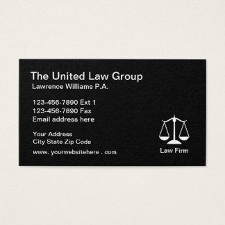 Cartão De Visitas Design simples da empresa de advocacia