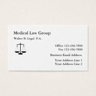 Cartão De Visitas Design simples da escala da lei do advogado