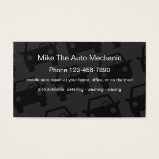 Cartão De Visitas Design simples do auto mecânico