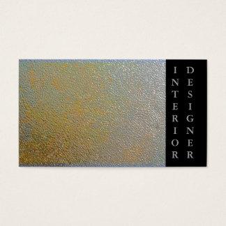 Cartão De Visitas Designer de interiores brilhante de prata do