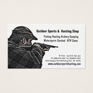 Cartão De Visitas Desportista do tiro que caça a loja exterior das