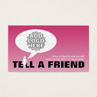 Cartão De Visitas diga uma referência do amigo cómica