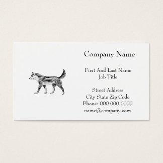 Cartão De Visitas Dingo australiano