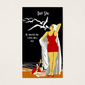 Cartão De Visitas Diva 2 retros do salão de beleza dos termas do dia
