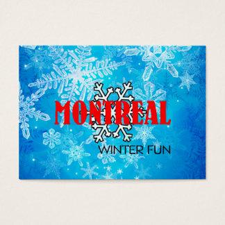 Cartão De Visitas Divertimento SUPERIOR do inverno de Montreal