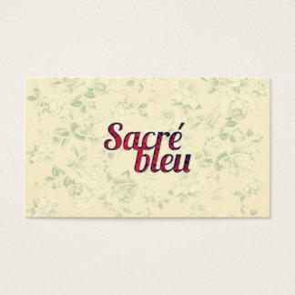 Cartão De Visitas Do azul transversal escuro floral de Sacre do