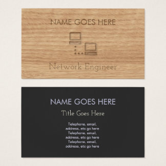 """Cartão De Visitas Do """"cartões de visitas de madeira do engenheiro da"""