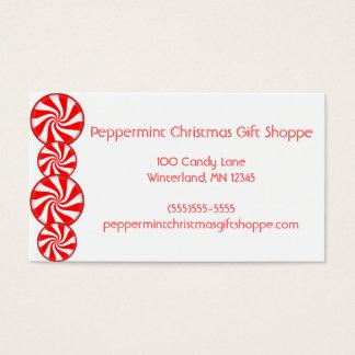 Cartão De Visitas Doces de Peppermint