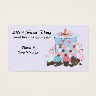 Cartão De Visitas Doces e deleites doces