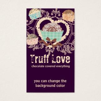 Cartão De Visitas Doces feitos sob encomenda dos doces das trufas de