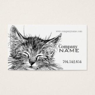 Cartão De Visitas Doutor veterinário Animal de estimação do gatinho
