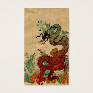 Cartão De Visitas Dragão na água