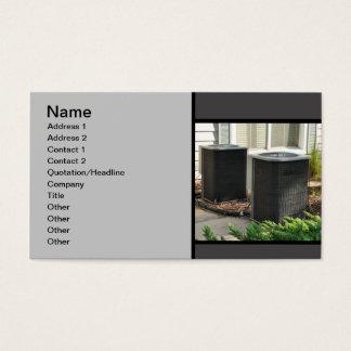Cartão De Visitas duas unidades centrais exteriores do condicionador