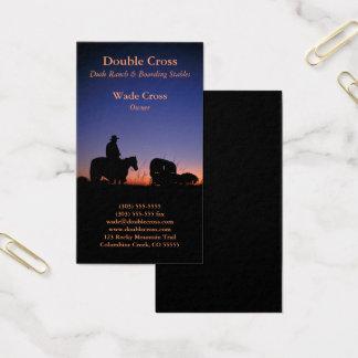 Cartão De Visitas Dude Ranch ocidental