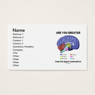 Cartão De Visitas É você maior do que a soma de suas peças? Cérebro