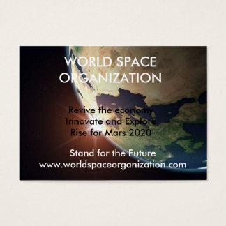 Cartão De Visitas earth1, ORGANIZAÇÃO do ESPAÇO do MUNDO, Revive o