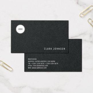Cartão De Visitas Elegância mínima moderna com espaço do logotipo