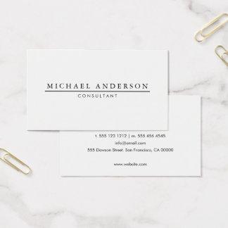 Cartão De Visitas Elegante minimalista