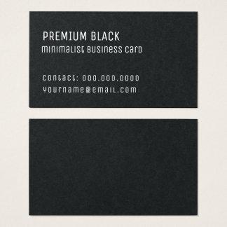 Cartão De Visitas elegante minimalista preto superior