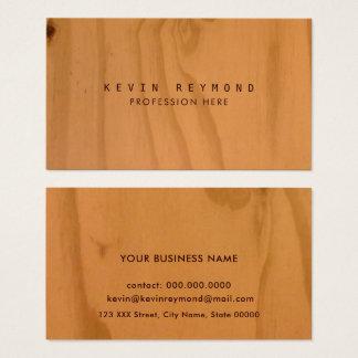 Cartão De Visitas elegante profissional da textura de madeira do