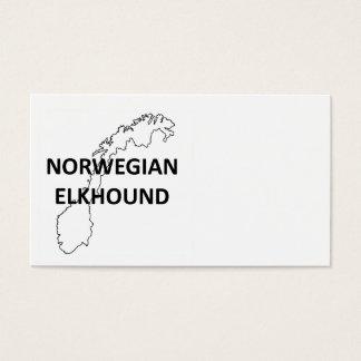 Cartão De Visitas elkhound norueguês Noruega outline.png