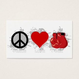 Cartão De Visitas Emblema da caixa do amor da paz