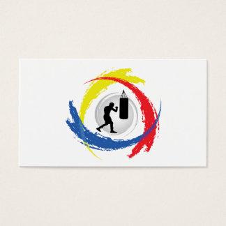 Cartão De Visitas Emblema Tricolor de encaixotamento